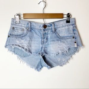 One Teaspoon Bonitas Distressed Cutoff Shorts 24